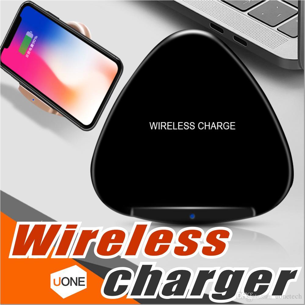 Caricatore wireless QI veloce Supporto pieghevole Supporto portatile Supporto di ricarica per Apple iPhone X 8 Samsung Note 8 S8 S7 tutto Smartphon abilitato per Qi
