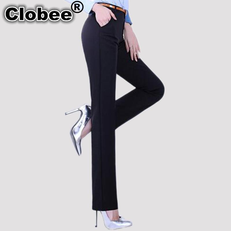 Great Quality Women Suit Spodnie Skinny Office Lady Jesień Zima Czarne Spodnie Pełna Długość Ołówek Wysoka Talia Spodnie Kobiet