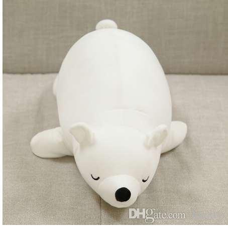 30 см белый медведь плюшевые игрушки чучела животных Белый медведь плюшевые пены Partical куклы для детей девочек мягкие игрушки с бамбуковым углем