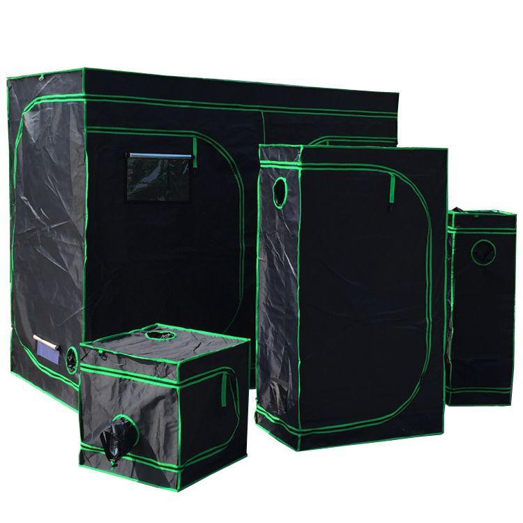 Tenda riflettente in mylar riflettente Camera verde con finestra di obeservation e vassoio per piante da interno