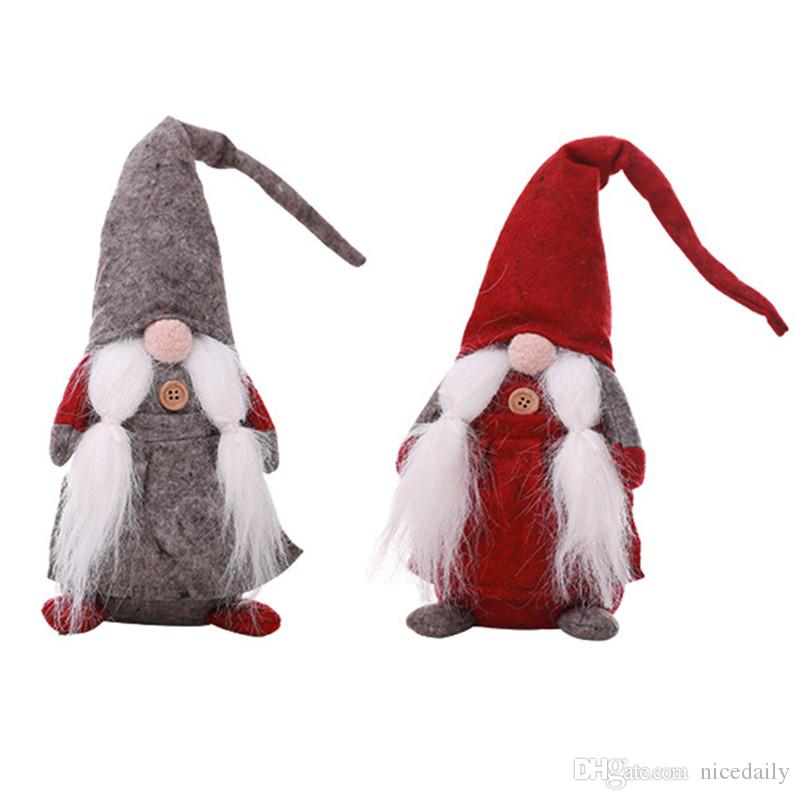 Handmade Swedish Tomte,Santa Doll- Scandinavian Gnome Plush Birthday Present - Home Ornaments Holiday Decoration Table Decor Wholesale