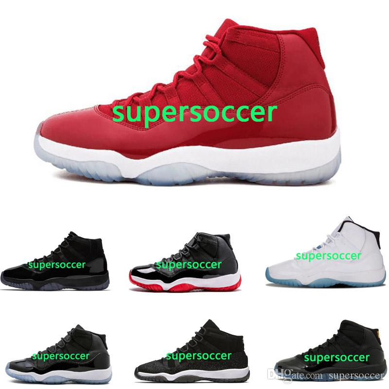 Por Atacado Baixa Meia-noite Navy Gum Varsity Red Sneaker Sapatos de Basquete 11 Homem Sapatos Tamanho EUR 40-47