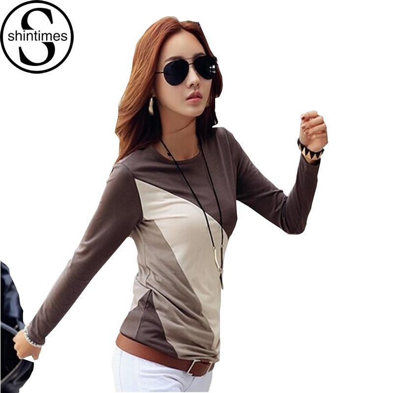 T-Shirt Ärmel T-shirt Femme Womens Frauen 2018 T-shirt Kawaii T-Shirt Kleidung Koreanische Oberteile Große Coon-Größe Lange Mujer Camisetas Nlphn