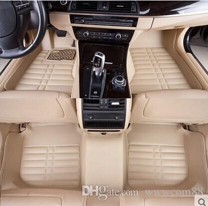 İyi kalite! Mazda3 için 100% fit fiber deri araba paspas / mazda 6 / cx-5 / cx5 / cx 5/323 / mazda 6 2014 / mazda 3 2014