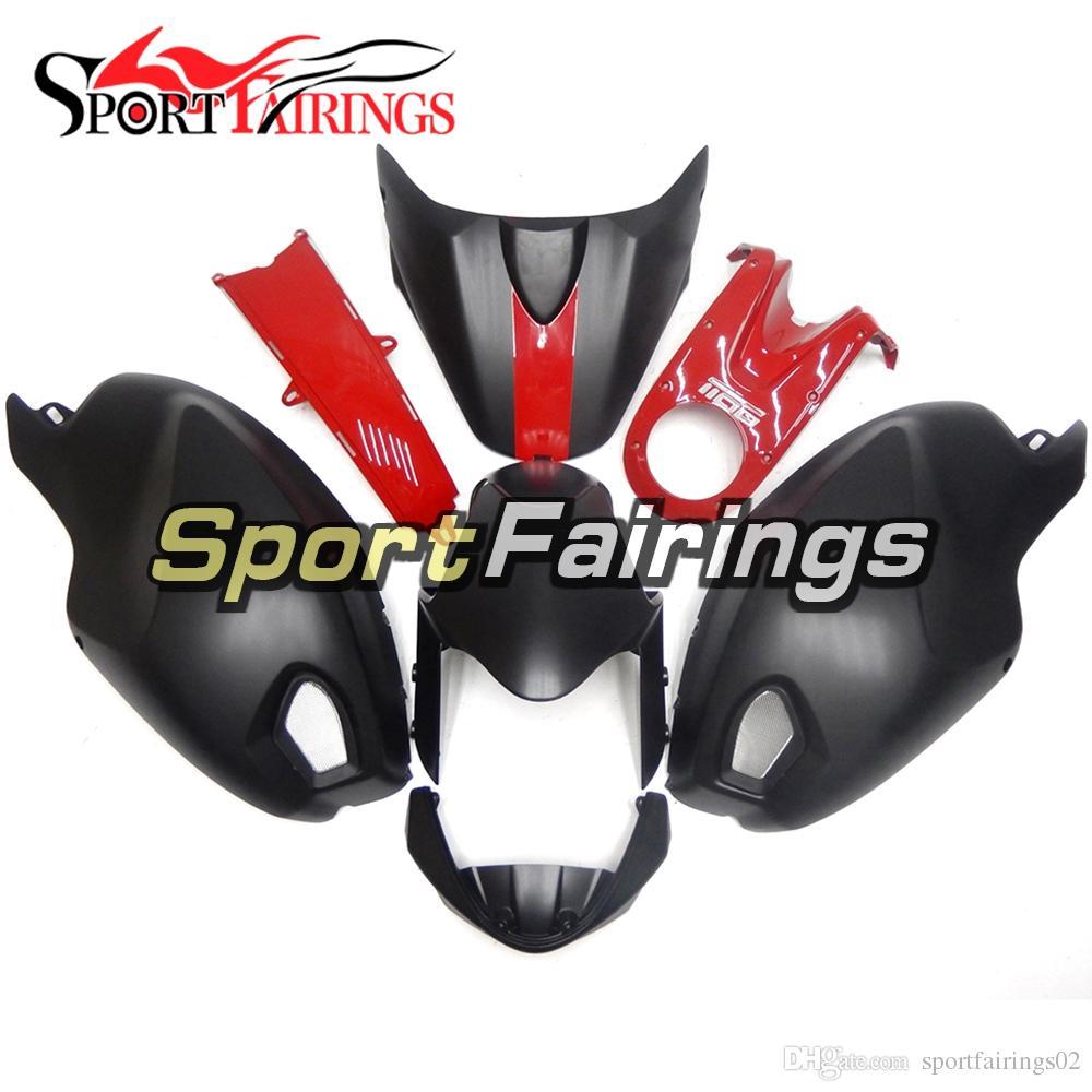 Ducati 696 796 795 M1000 M1100 2009 2010 2011 플라스틱 ABS 코어링 오토바이 페어링 키트 주입 Sportbike 검은 색 빨간색
