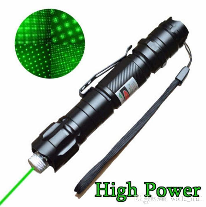 Newest Brand 1mw 532nm 8000M High Power Green Laser Pointer Light Pen Lazer Beam Military Green Lasers