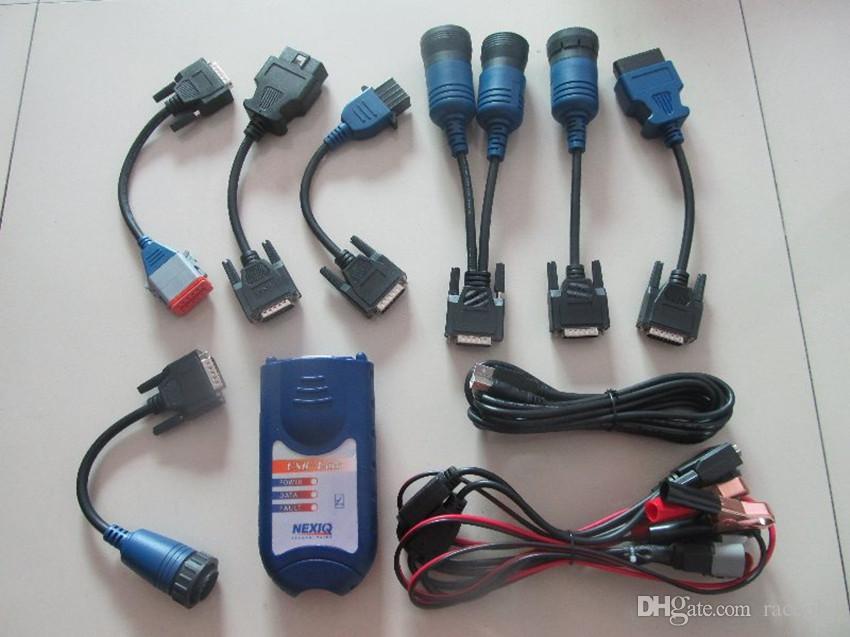 Strumento diagnostico del camion di collegamento Nexiq 125032 USB con tutti gli adattatori Scanner per impieghi gravosi 2 anni di garanzia
