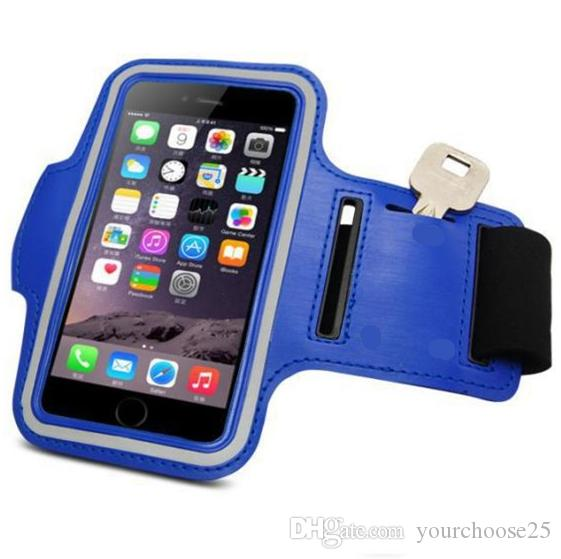 For Iphone 7 6 6s Plus Universal Armband Waterproof Sports Running Case bag workout Armbands Holder Pouch For Samsung Cell Mobile Phone