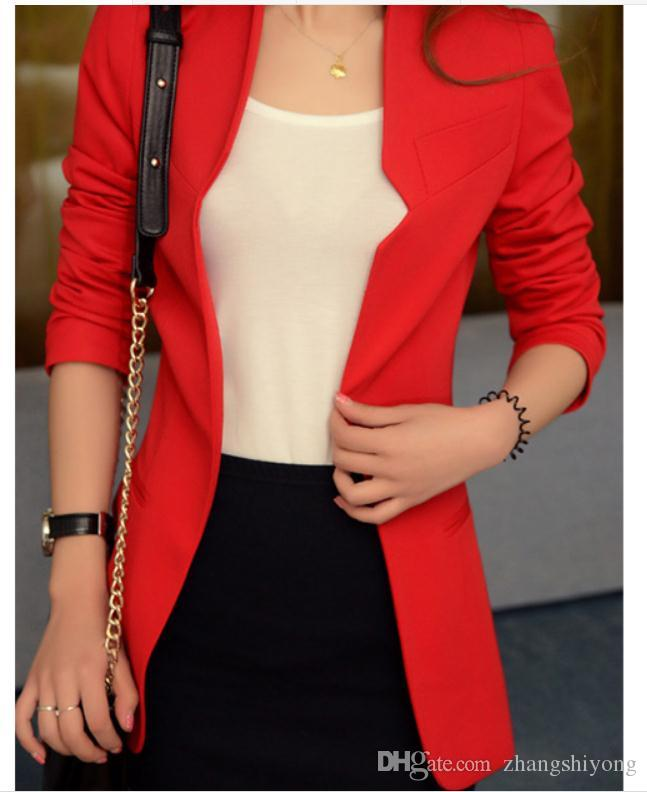 Free send 2018 new style cultivate one's moral character coat women's arder Western-style clothes