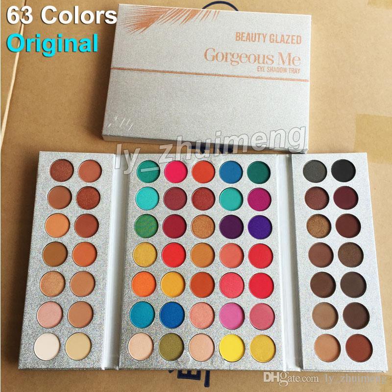Original Beauty Glazed 63 Colors Eyeshadow Palette Gorgeous Me Makeup palette Eye Shadow Waterproof Powder Natural Pigmented Nude Cosmetics