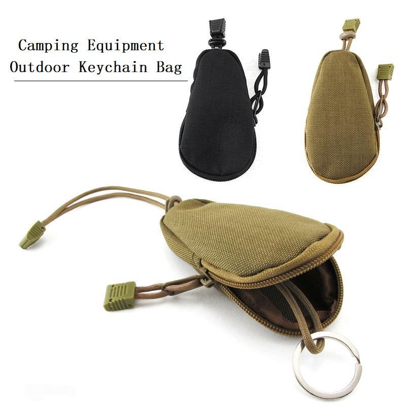 Borsa di stoccaggio portatile Fans Army Camping Equipment Portachiavi borsa strumento esterno Pendenti Camouflage borsa tattica Portafogli Pouch