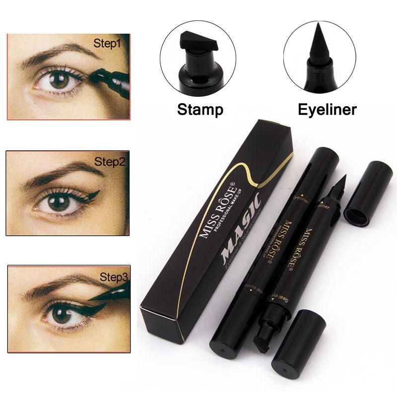 Makyaj Bayan Rose Likit Eyeliner Kalem su geçirmez Eyeliner Siyah Renk Göz Kalemi Damga Kore Kozmetik Hediye İçin Kız