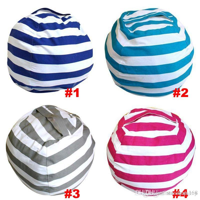 62cm Storage Bean Bags Kids Plush Toys Beanbag Chair Bedroom Stuffed Animal Room Mats Portable Clothes Storage Bag TY7-105