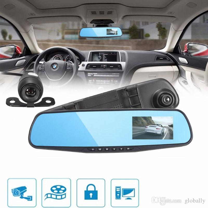 Ultra-thin body design 3.8 Inch 1080P HD 140 Angle Night Vision Car DVR Recorders With circle recording