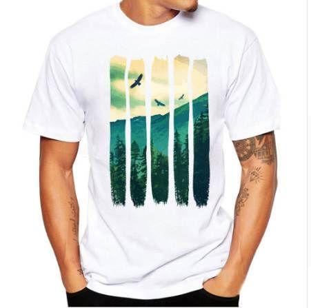 Feitong Uomo Stampa Tees Camicia a maniche corte T-Shirt Camicetta Fitness O-Collo Moda Modale T-shirt Maglietta estiva Top