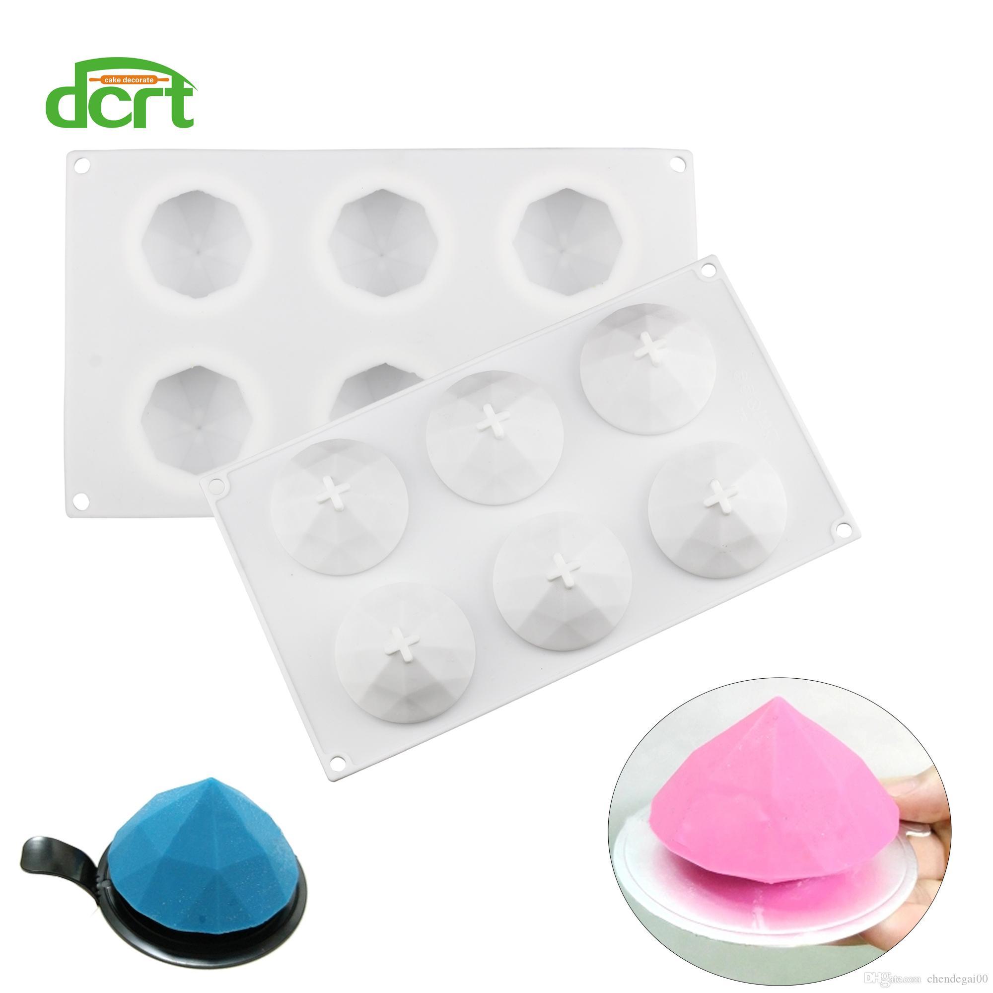 DCRT Baking Mould 3D Diamond Shaped Silicone Cake Mold Chocolate Pudding Ice Fondant Tools Cake Decorating Tools