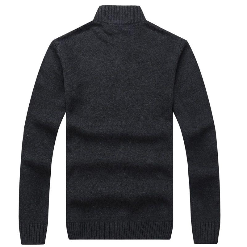 2017 Hiver Hommes Chandails 100% Coton Cardigan Tricoté Tricot Marque Vêtements Épais Tricots De Tricot Vêtements Vêtements Pulls