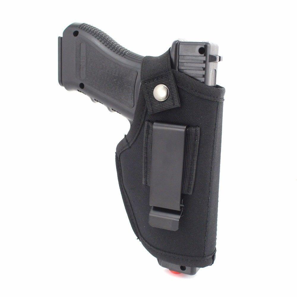Нейлоновая кобура пистолета EDC с металлическим зажимным ремнем, скрытая снаружи или внутри Пояс для правой левой руки Регулируемый Подходит для большинства пистолетов