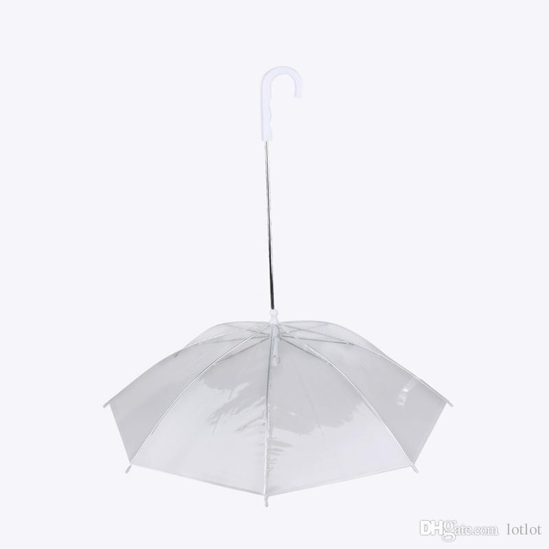 Guarda-chuva do cão dos plásticos Capa de chuva do cão para o animal de estimação Guarda-chuva Capa de chuva dos equipamentos com o cão Leva o animal de estimação seco Confortável na chuva Nevando