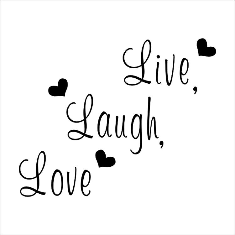 Live Laugh Love Quote Wall Stickers Home Decor Art Decal Sticker Decals  Quote Saying Words & Phrases Wall Sticker Wallpaper Custom Wall Decals  Custom ...