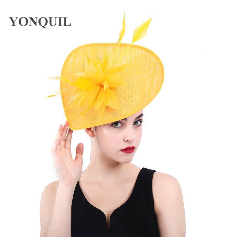 Vintage church Fascinators hats women kentucky derby wedding headwear big hats veils accessories bridal ladies days headpiece NEW SYF371