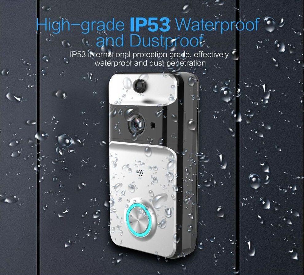 IP53 Waterproof Wireless Door Bell WI-FI Video Doorbell Security Camera IR Night VisionBattery including Support TF 10pc/lot