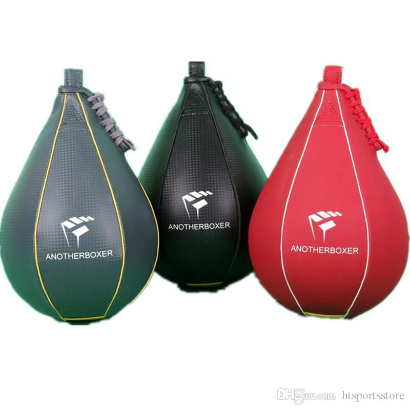 htsport FREE SHIPPING New Double End Muay Thai Boxing Punching Bag Speed Ball PU Punch Training Fitness Sports Practical Speed Balls swivel