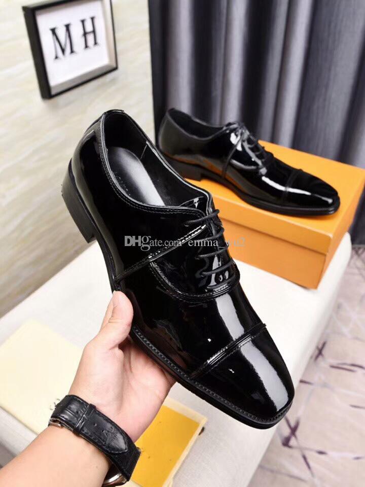 Zapatos de negocios de oficina con cordones de cuero genuino masculino zapatos de boda y baile de gala elegantes del vestido negro más el tamaño