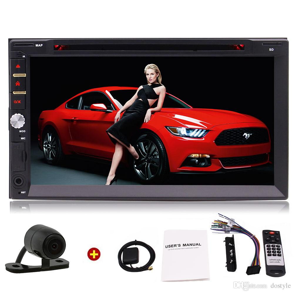 Универсальный автомобильный DVD-ресивер с двумя динамиками Din 7-дюймовый емкостный сенсорный экран GPS-навигатор Автомобильный радиоприемник Bluetooth RDS / USB / SD Беспроводной пульт дистанционного управления