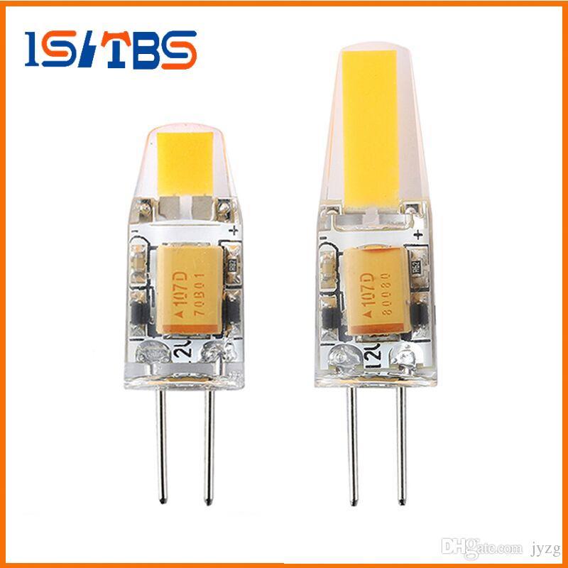 G4 светодиодные лампы 3W 6W G4 COB светодиодные лампы 12V AC / DC Mini G4 Светодиодные 360 Угол луча Replace галогенная лампа люстра свет
