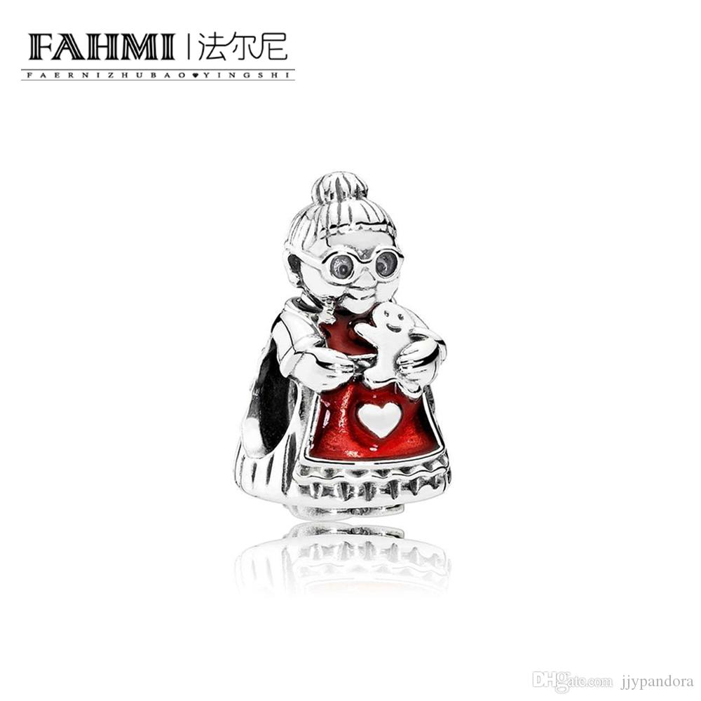Fahmi 100% 925 Sterling Silver 1: 1 Oryginalny 792005EN07 Autentyczne Temperament Moda Glamour Retro Bead Wedding Women Jewelry