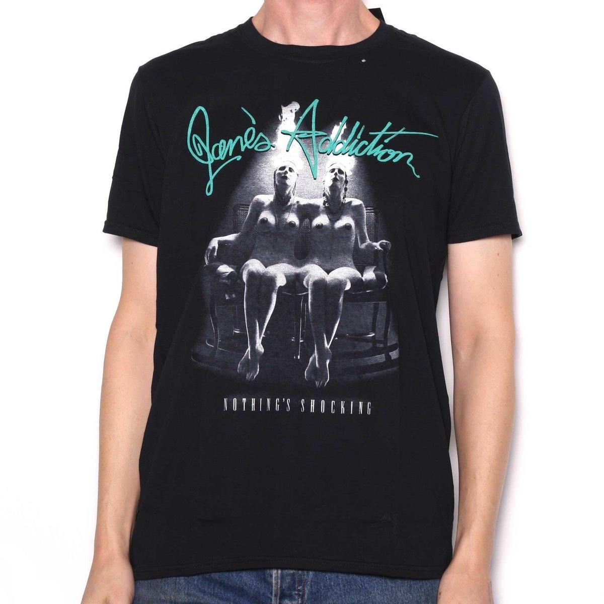 Janes Addiction Men/'s  Nothing/'s Shocking T-shirt Black