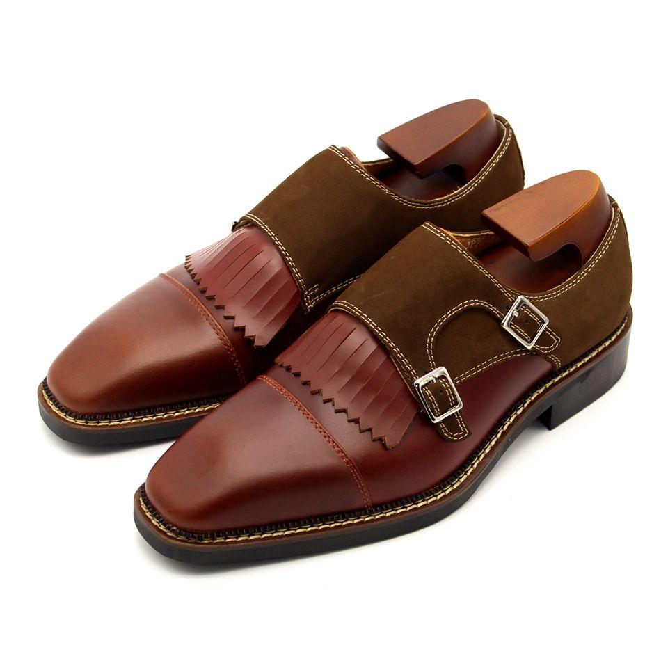 Handmade borla franja brogue sapatos homens vestido sapatos de negócios forma formal oxfords fivela flats