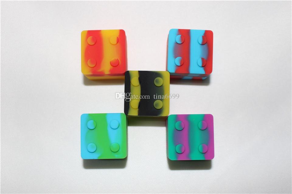 Recipiente de cera cuadrada del jarra de silicona de silicona más barato para 30 mmx30mm dabilicona contenedor de silicona