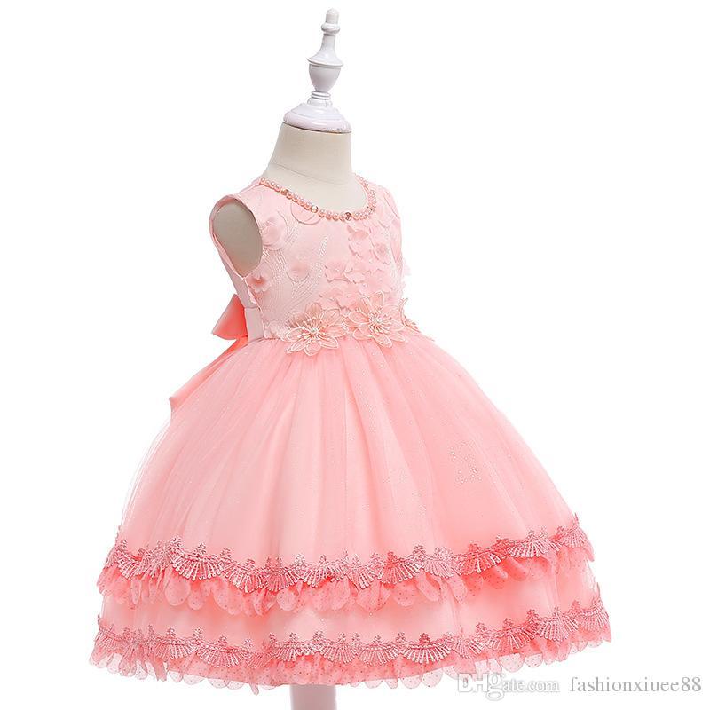 Flower Girl Dresses for Weddings Cloud Toddler Kids First Communion Dresses Pageant Dress Prom Dress for Little Girl
