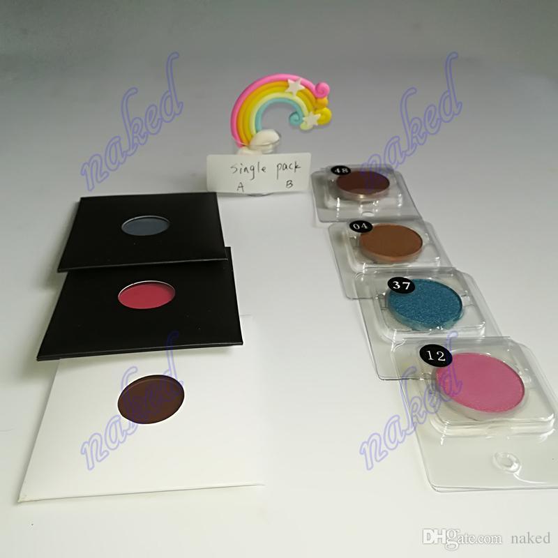 Hiçbir logo göz farı 50 renk tek göz farı kozmetik 20 renk mat ve 30 renk pırıltılı astar kombinasyonu
