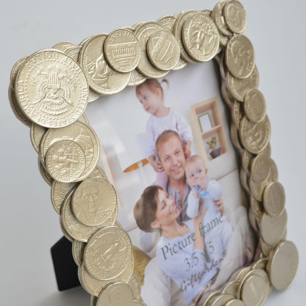 Großhandel Dekorative Bilderrahmen Goldmünzen Kanten Bilderrahmen ...