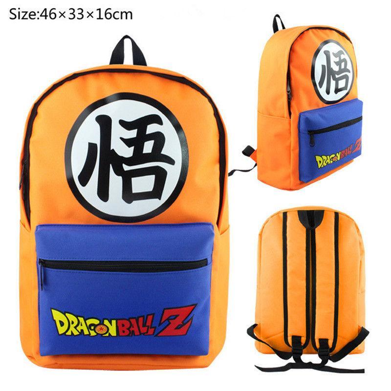 Fashion Anime Dragon Ball Z Shoulder BAG SCHOOL BACKPACK Son Goku Orange Canvas