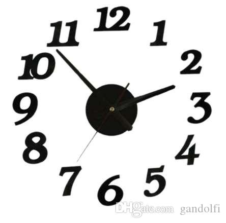 ساعة الحائط الرقمية ساعة حائط المنزل غرفة المعيشة ملصقا ديكور المنزل relojes adhesivos decorativos الفقرة باريديس ديكور المنزل