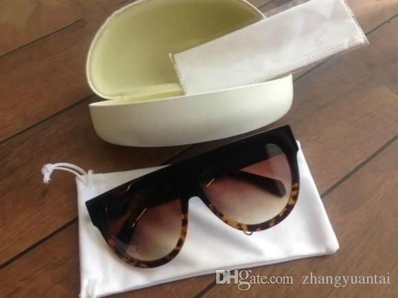 무료 배송 빈티지 선글래스 41026 audrey fashion sunglass women 인기 디자이너 빅 프레임 플랩 탑 대형 선글라스 표범 무늬