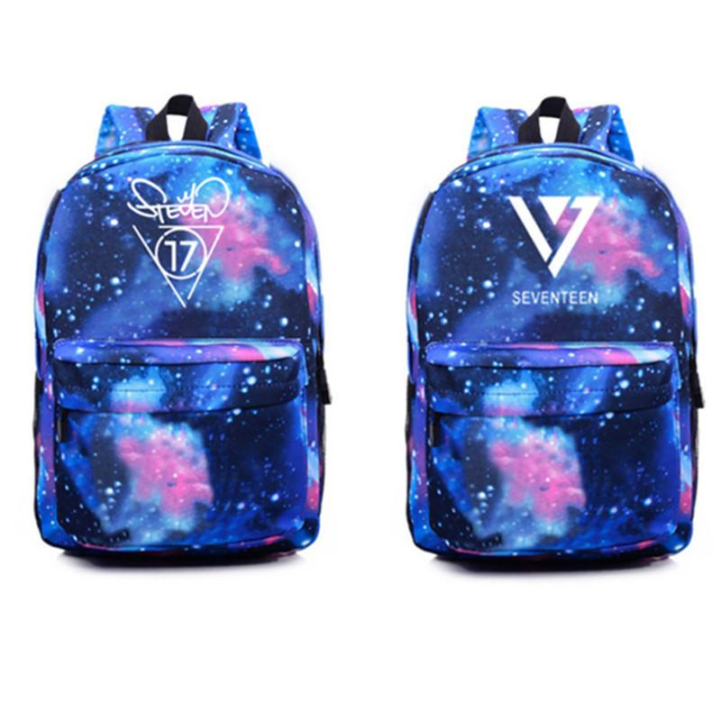 Youpop SEVENTEEN 17 Canvas Bag Starry Pattern Jewelry Admission Package Backpack Cosmetic Bags SJB406