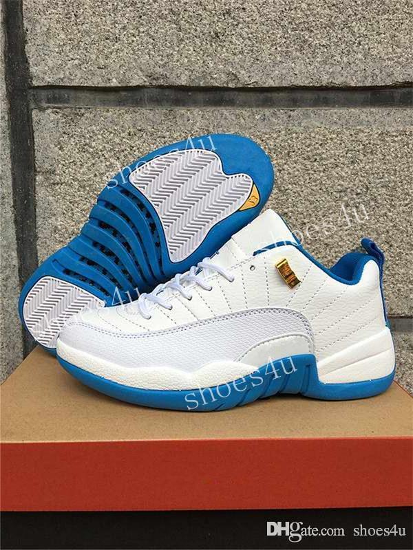 12 XII Low Basketball Hommes Chaussures Baskets Femmes Chaussures De Course Pour Hommes Grippe Jeu Loup Gris Gym Rouge Taxi Gamma Bleu Suede 36-47