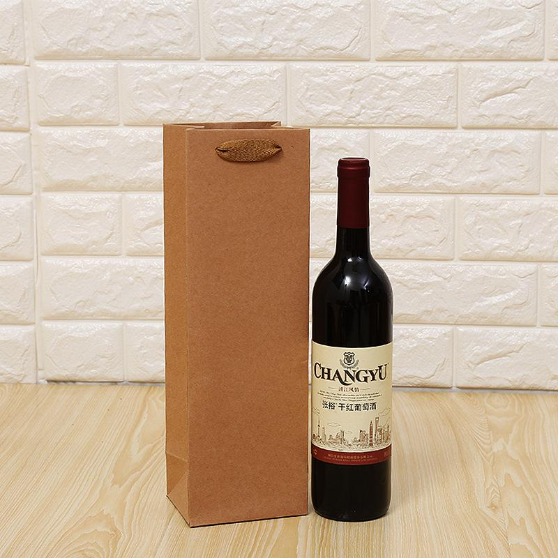 120pcs Kraft paper single and double wine bags, portable gift bags, red wine handbags