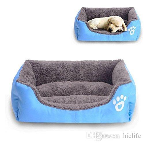 Большая Кровать для Собак Теплая Прямоугольная Кровать для Собак Нижняя Ткань Оксфорд Водонепроницаемая Кровать для Питомника Питомник Спальный Мешок для Животных Кошка Дом 12 Цветов