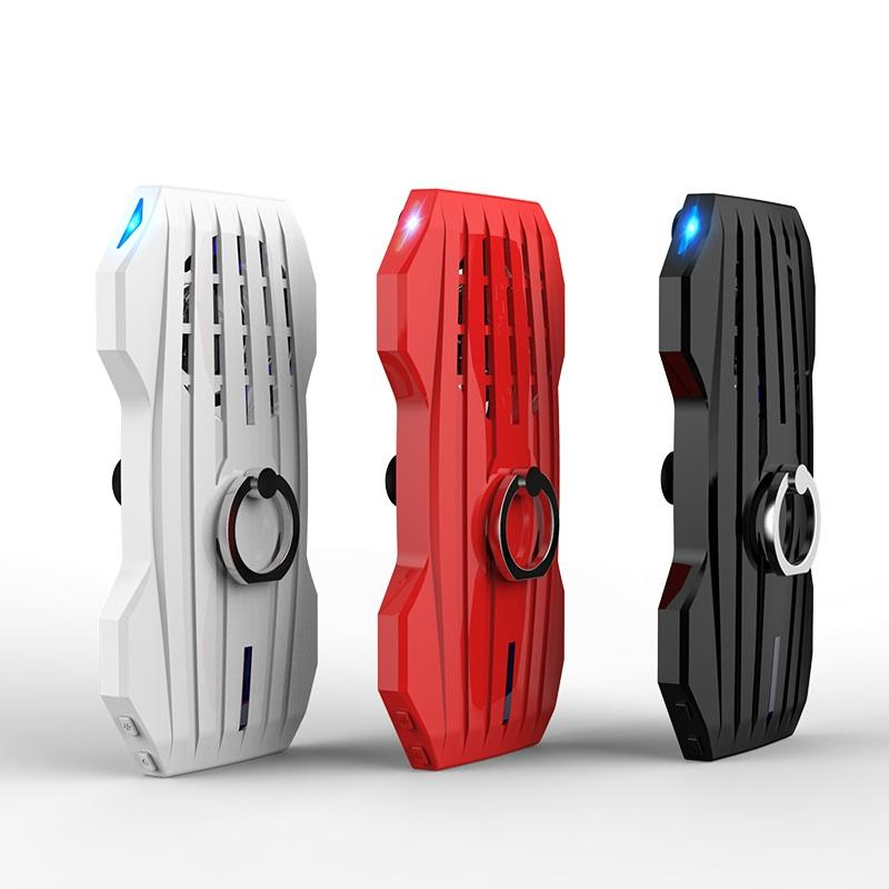 Handle Mobile Phone Cooling Pad Mute Gaming Cooler Radiator Fans Power Bank Adjustable Stand For Smart Phone Gamer