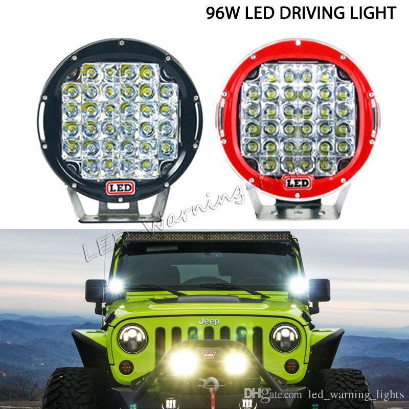2шт 96W 9in круглый светодиодный дальний свет для внедорожника 4x4 UTV грузовик с прицепом тягач 4WD гонки сверхмощный рабочий свет ARB прожектор