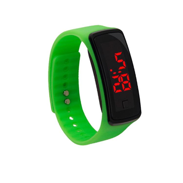 New Second Generation Fashion Sports Men Women Rectangle Led Digital Screen Watches Rubber Silicone Bracelets Wrist Relogio 13 Colors