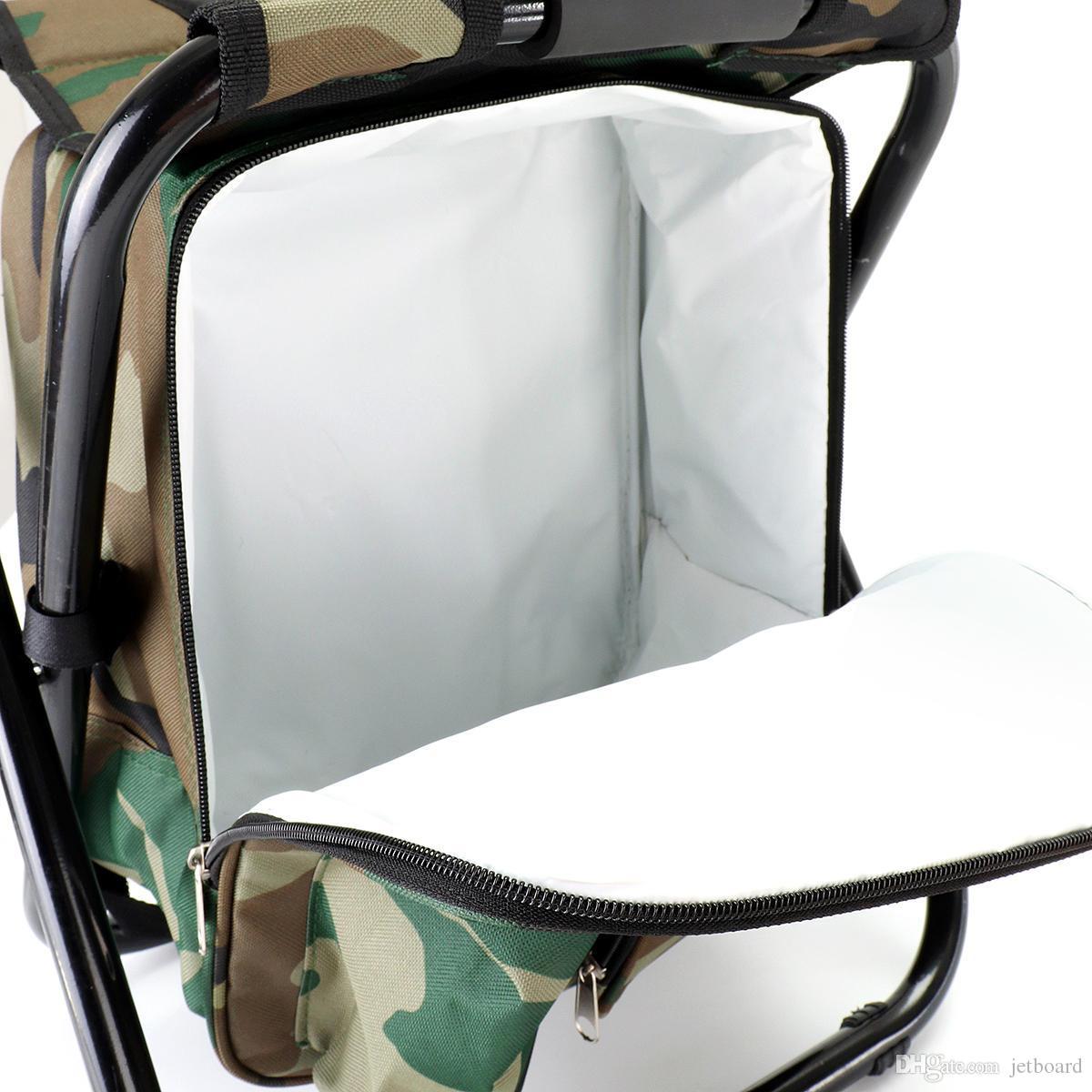 3 en 1 1,8 l portable pliable glacière sac chaise de plage poche de rangement des aliments camping pique-nique tabouret