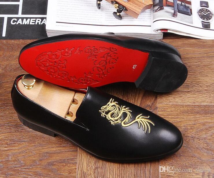 243db99e ... Hombres de diseñador de lujo totem bordar caballero zapatos puntiagudos  Vestido de boda Homecoming Prom Zapatos ...