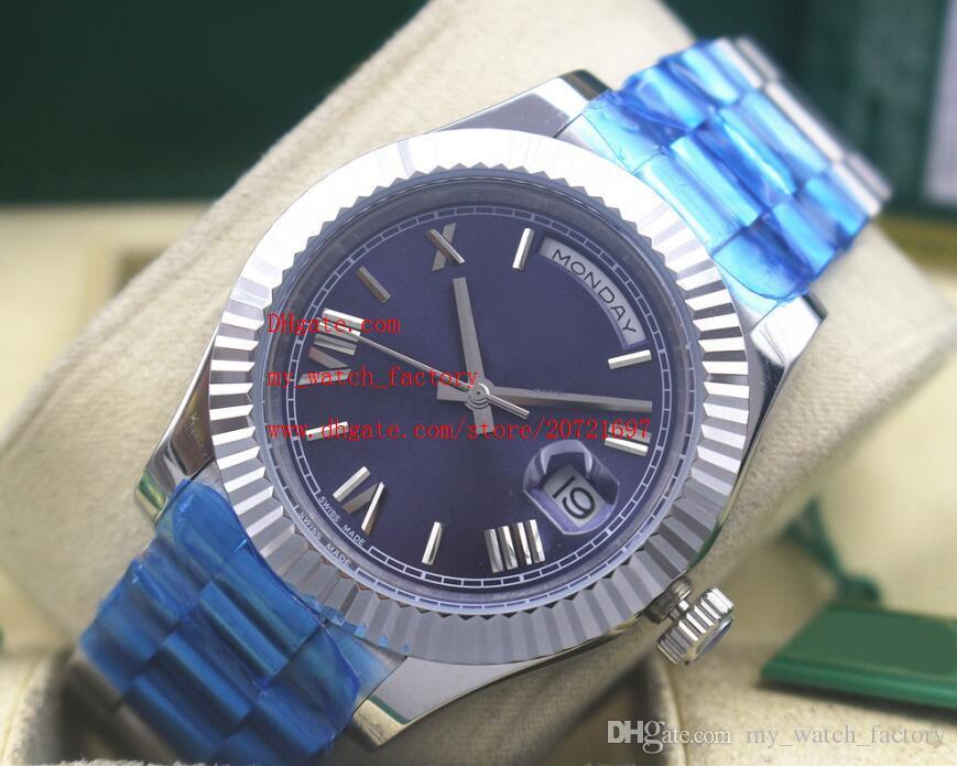Factory Supplier Luxury High Quality Wristwatches Sapphire Glass 41mm DAY-DATE Blue Dial 228239 Automatic Mechanical Mens Watches